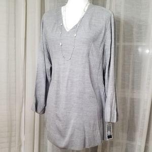 Karen Scott v-neck sweater sz 3X NWT